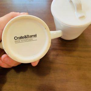 🆕🌿 Crate & Barrel | Sugar and Creamer Set